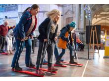"""Sportlov med """"Hasaloppet"""" och disco på Nordiska museet 2019. Foto: Karolina Kristensson, Nordiska museet"""