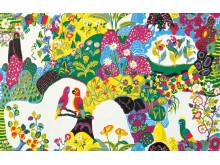 Textile print Himalaya by Josef Frank