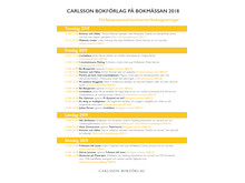 Program Carlssons 2018