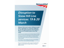 Apology to passengers following disruption on the Snow Hill line