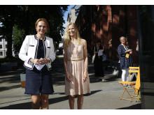 Innovation for All 2018: Barne- og likestillingsminister Linda Hofstad  og Onny Eikhaug