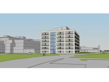 Skissbild över byggnad 29