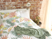 bed set summer tropic peach