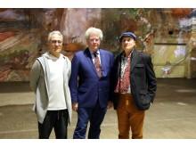 Massimiliano Siccardi, Prof. Markus Löffler und Gianfranco Iannuzzi (v.l.) im Kunstkraftwerk Leipzig - Foto Andreas Schmidt