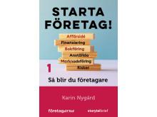 Omslag till Starta företag!, en handbok i nio avsnitt om hur drömmen om ett eget företag kan bli sann. Bild: Storytel