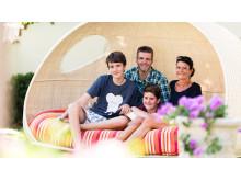 Die Gastgeber Familie Pirhofer im DolceVita Hotel Jagdhof in Latsch