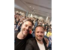 givetvis en selfie från scen...