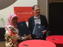 Habitats Executivdirektör Ms Maimunah Mohd Sharif och Fryshusets VD Johan Oljeqvist