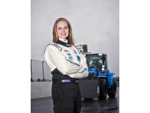 Karin Olsson - pilot Volvo L60G PCP hjullastare