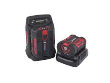Honda batteriladdare och batteri till batteridriven häcksax, lövblås och grästrimmer