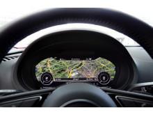 Audi virtual cockpit Google Earth Audi A3 e-tron