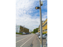 The new sensor is being tested on a streetlight in the Gothenburg area