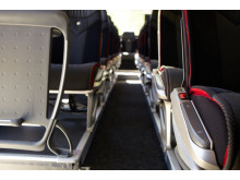 Swebus nya bussar interiört