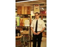 Peder Lehmann Larsen, sommelier og afdelingsleder for vin i Scandlines' BorderShop i Puttgarden