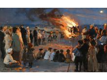 P. S. Krøyer: Midsummer Eve bonfire (1903)