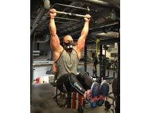Sam Mikaelsson using Training Mask