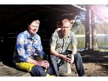 Jocke Sundberg & Stefan Gustafsson vindskydd motljus