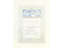 The 1965 Nobel Peace Prize Diploma awarded to UNICEF. Photo: UNICEF