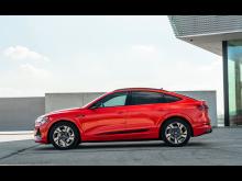 Audi e-tron Sportback på väg till de svenska Audi-återförsäljarna