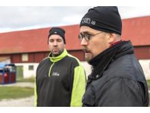 Fr v Erik Levander och Fredrik Sundblad. Bols Gård i Havdhem på södra Gotland som deltar i Smak av Gotlands projekt Fossilfritt kött.