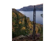Skredfaren på Tinnsjøveien overvåkes med trådløst geofonbasert system.