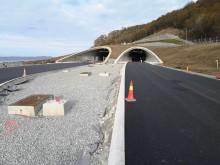 Das Zielgebiet am östlichen Tunnelausgang bei Solbakk