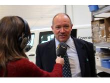 Vicedirektør i Forenede Service Ejnar Olsen er glad for den grønne smiley