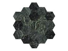 U Hexagon Large Green Polished
