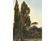 "Fritz Petzholdt: ""Parti fra Villa d'Este ved Tivoli"" (1834)"