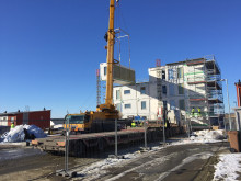 Montage i BoKlok Sjöstaden i Ystad
