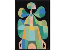 Liselotte Watkins, Fluo, 2018, akryl och lack på duk, 70 x 100 cm