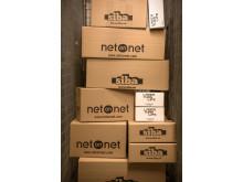 NetOnNet- och SIBA-kartonger