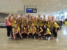 F19-landslaget i fotboll – några av alla resenärer på Stockholm Arlanda Airport under juli månad.