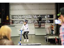 Baby & Barn 2014: Full fart när kidsen testar kickbikes