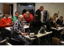 Koncentration i Stockholm under workshopen att Bygga växel.