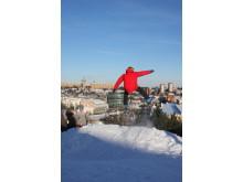 Kille hoppar i Hammarbybacken
