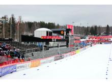 Skid-VM 2015 - Målrakan på Lugnets skidstadion
