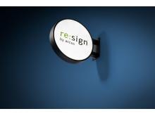 re:sign flaggskylt rund