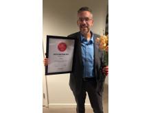 Ulf Seijmer med diplom