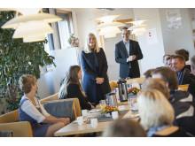 Kronprinsesse Mette-Marit på besøk på Trivselslederskole 6.oktober 2014; Runni Ungdomskole i Nes (Akershus)