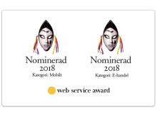 NetOnNet är tvåfaldigt nominerad i Web Service Award 2018