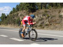 Reidar Borgersen under trening, sykkel-VM 2014