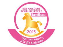 """Logo - Das Goldene Schaukelpferd 2015 / Sieger in der Kategorie """"Für die Kleinsten"""""""