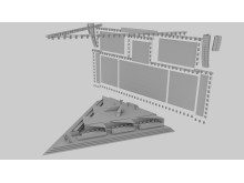 Stage and screens 3d