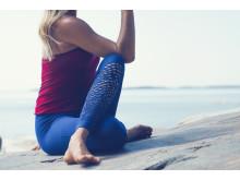SOC x Josefines yoga. Blå detaljer nederdel. Foto Stadium