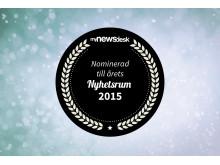 Logotype Årets nyhetsrum 2015 - Swecon nominerat i prestigefulla kategorin Best of the best