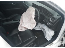 Image of white mercedes DNA found of Luck on air bag