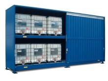 Miljöcontainer för kemikalier i ibc.