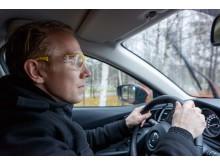 Bilist genomför testkörning – Synbesiktningen 2015