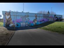Färdig målning Harbrovägen Foto Graffitisthlm